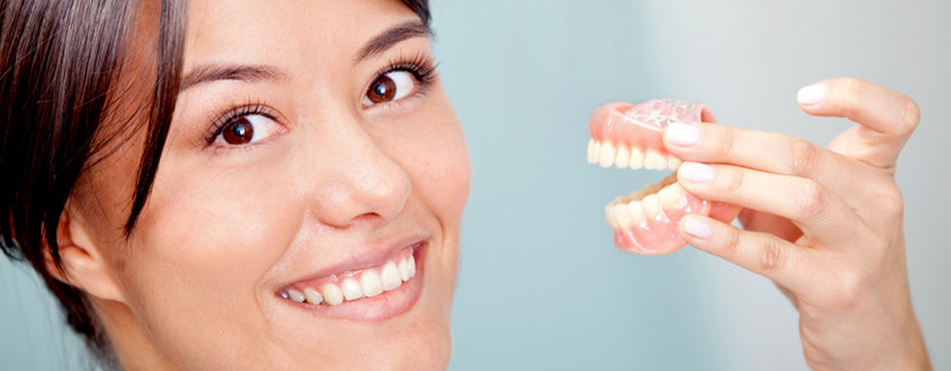 Image of woman with new dentures
